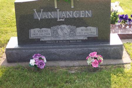 TEMPEL VAN LANGEN, MARIE - Hamilton County, Iowa | MARIE TEMPEL VAN LANGEN