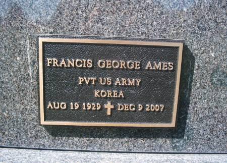 AMES, FRANCIS - Hancock County, Iowa   FRANCIS AMES