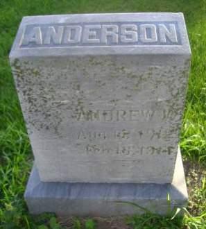 ANDERSON, ANDREW W - Hancock County, Iowa | ANDREW W ANDERSON