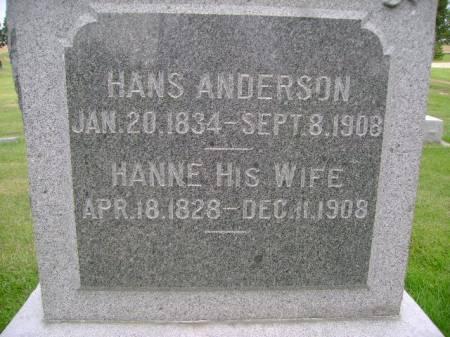 ANDERSON, HANS - Hancock County, Iowa | HANS ANDERSON