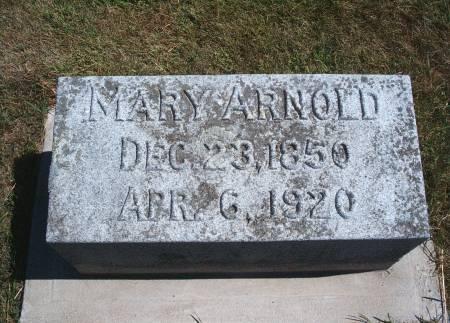 ARNOLD, MARY - Hancock County, Iowa | MARY ARNOLD