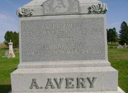 AVERY, LOVINA - Hancock County, Iowa | LOVINA AVERY