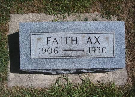 AX, FAITH - Hancock County, Iowa | FAITH AX