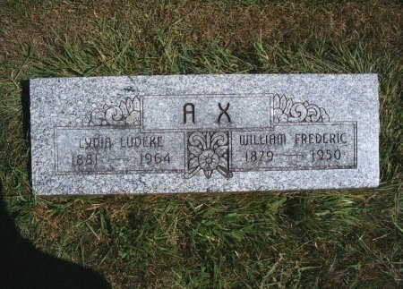 AX, WILLIAM F - Hancock County, Iowa | WILLIAM F AX