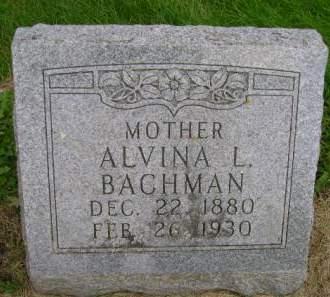 BACHMAN, ALVINA L - Hancock County, Iowa | ALVINA L BACHMAN