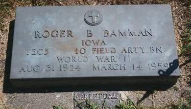 BAMMAN, ROGER B - Hancock County, Iowa | ROGER B BAMMAN