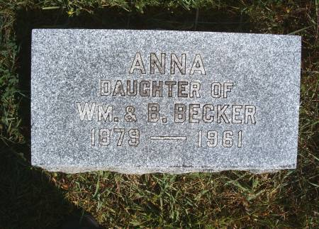 BECKER, ANNA - Hancock County, Iowa | ANNA BECKER