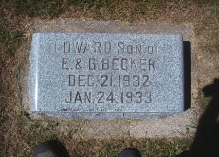BECKER, EDWARD - Hancock County, Iowa   EDWARD BECKER