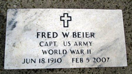 BEIER, FRED W - Hancock County, Iowa   FRED W BEIER