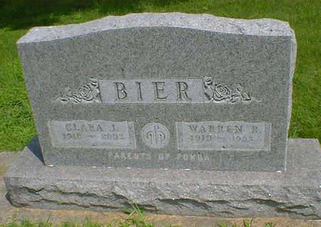 BIER, WARREN R - Hancock County, Iowa | WARREN R BIER