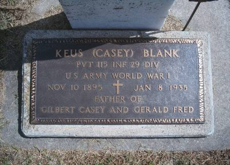 BLANK, KEUS - Hancock County, Iowa | KEUS BLANK
