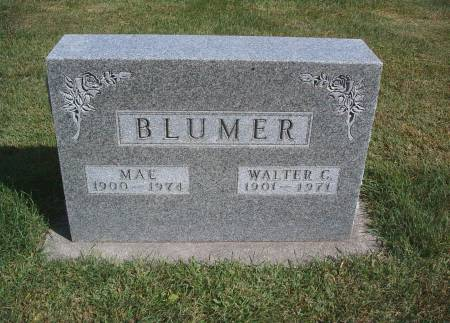 BLUMER, WALTER C - Hancock County, Iowa | WALTER C BLUMER