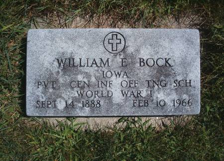 BOCK, WILLIAM E - Hancock County, Iowa | WILLIAM E BOCK