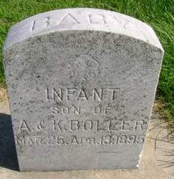 BOLLER, INFANT - Hancock County, Iowa | INFANT BOLLER