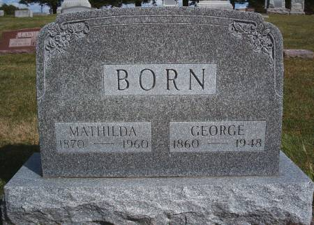 BORN, MATHILDA - Hancock County, Iowa | MATHILDA BORN