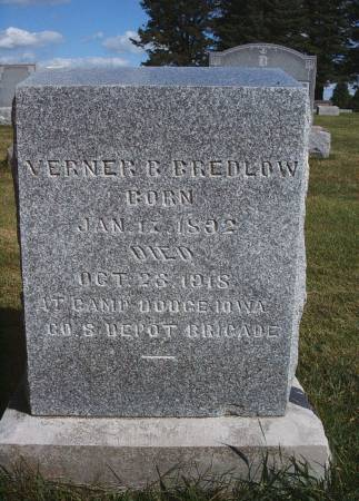 BREDLOW, VERNER B - Hancock County, Iowa | VERNER B BREDLOW