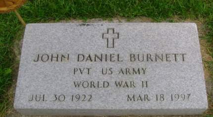 BURNETT, JOHN D - Hancock County, Iowa | JOHN D BURNETT