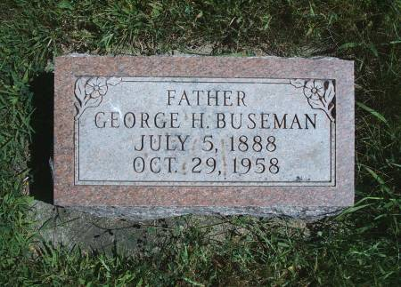 BUSEMAN, GEORGE H - Hancock County, Iowa   GEORGE H BUSEMAN