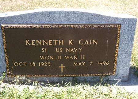 CAIN, KENNETH - Hancock County, Iowa | KENNETH CAIN