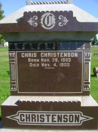CHRISTENSON, CHRIS - Hancock County, Iowa   CHRIS CHRISTENSON