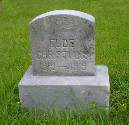 CHRISTIANS, ELDE - Hancock County, Iowa | ELDE CHRISTIANS