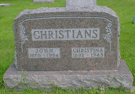 CHRISTIANS, JOHN - Hancock County, Iowa | JOHN CHRISTIANS