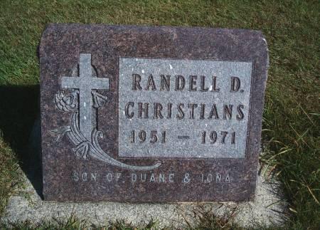 CHRISTIANS, RANDELL D - Hancock County, Iowa   RANDELL D CHRISTIANS