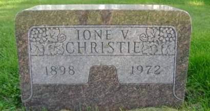 CHRISTIE, IONE V - Hancock County, Iowa | IONE V CHRISTIE