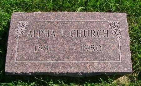 CHURCH, ALPHA L - Hancock County, Iowa | ALPHA L CHURCH