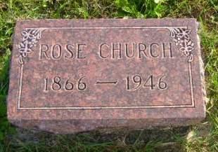 CHURCH, ROSE - Hancock County, Iowa   ROSE CHURCH