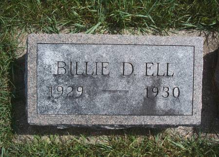 ELL, BILLIE D - Hancock County, Iowa | BILLIE D ELL