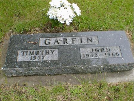 GARFIN, TIMOTHY - Hancock County, Iowa | TIMOTHY GARFIN