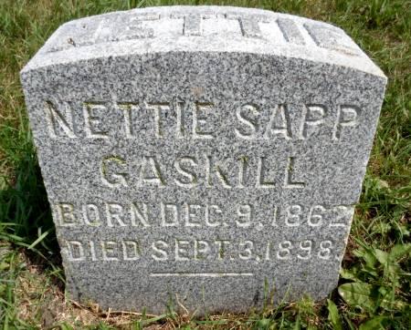 SAPP GASKILL, NETTIE - Hancock County, Iowa | NETTIE SAPP GASKILL