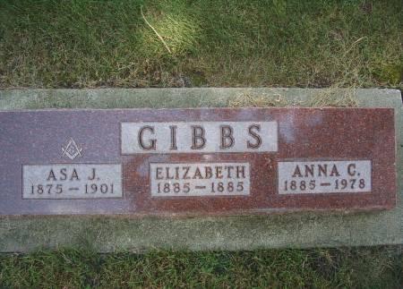 GIBBS, ANNA C - Hancock County, Iowa   ANNA C GIBBS