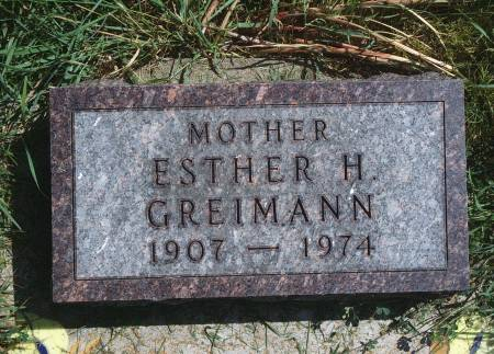 GREIMANN, ESTHER H - Hancock County, Iowa | ESTHER H GREIMANN