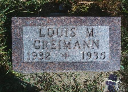 GREIMANN, LOUIS M - Hancock County, Iowa | LOUIS M GREIMANN