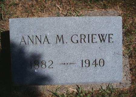 GRIEWE, ANNA M - Hancock County, Iowa | ANNA M GRIEWE