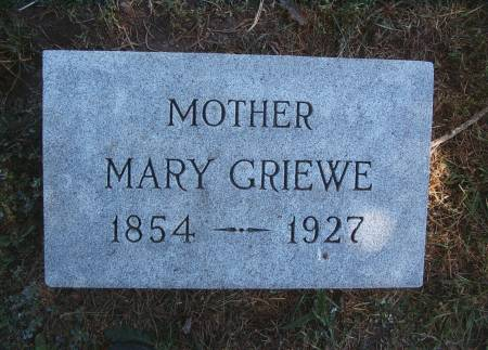 GRIEWE, MARY - Hancock County, Iowa | MARY GRIEWE