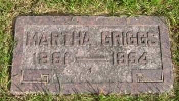GRIGGS, MARTHA - Hancock County, Iowa   MARTHA GRIGGS