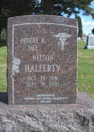 NELSON HALFERTY, ERDENE R - Hancock County, Iowa | ERDENE R NELSON HALFERTY