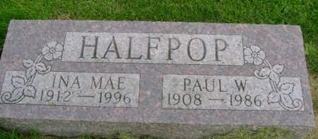 HALFPOP, PAUL W - Hancock County, Iowa | PAUL W HALFPOP
