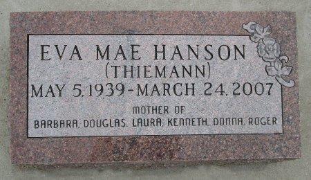 THIEMANN HANSON, EVA M - Hancock County, Iowa | EVA M THIEMANN HANSON