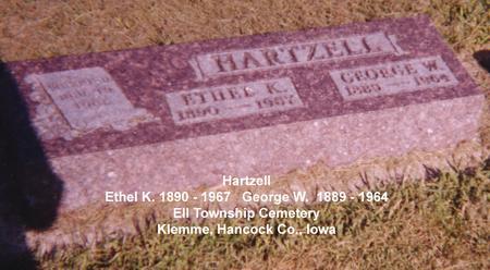 HARTZELL, ETHEL K - Hancock County, Iowa | ETHEL K HARTZELL