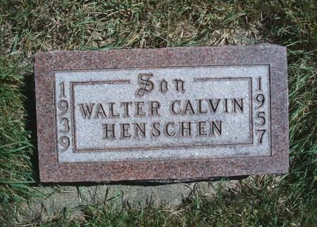 HENSCHEN, WALTER C - Hancock County, Iowa | WALTER C HENSCHEN