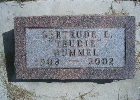 JOHNSON HUMMEL, GERTRUDE E - Hancock County, Iowa | GERTRUDE E JOHNSON HUMMEL