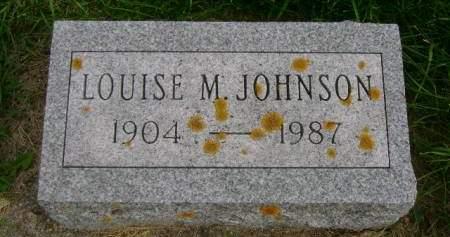 JOHNSON, LOUISE M - Hancock County, Iowa   LOUISE M JOHNSON