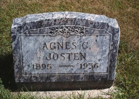 BACK JOSTEN, AGNES C - Hancock County, Iowa | AGNES C BACK JOSTEN
