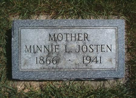 SCHULDT JOSTEN, MINNIE L - Hancock County, Iowa | MINNIE L SCHULDT JOSTEN