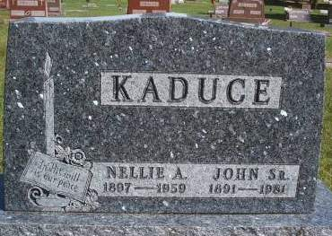 KADUCE, NELLIE A - Hancock County, Iowa | NELLIE A KADUCE