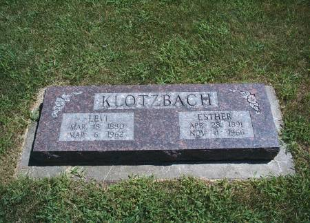 KLOTZBACH, ESTHER - Hancock County, Iowa | ESTHER KLOTZBACH